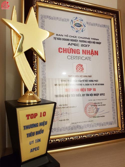 """Việt Hưng Phát được vinh danh """"Top 10 Thương hiệu tiêu biểu APEC- 2017"""" - 3"""