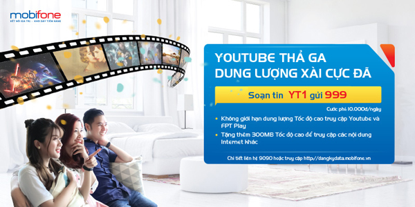 Truy cập Youtube với 4G MobiFone siêu đỉnh chỉ 10.000đ/ngày - 1