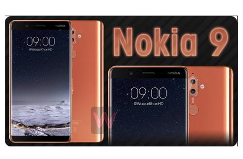 Nokia 9 lộ diện, màn hình tràn cạnh như Samsung Galaxy S8 - 1
