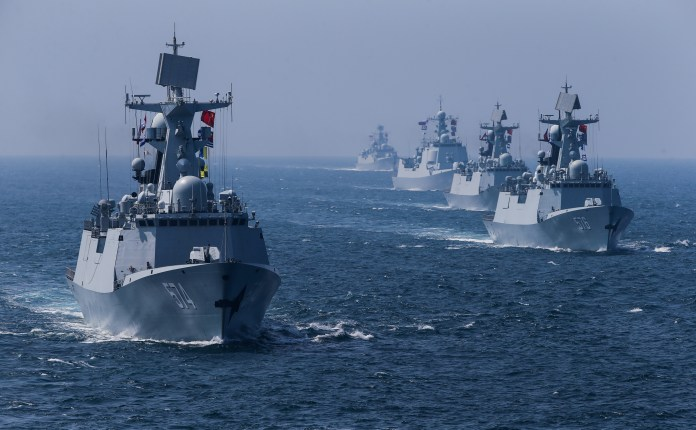 Nga-Trung tập trận hải quân rầm rộ sát Triều Tiên làm gì? - 1