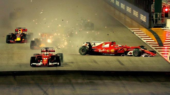 """Đua xe F1, Singapore GP: """"Thần may mắn"""" ngoảnh mặt, cơn ác mộng màu đỏ 1"""