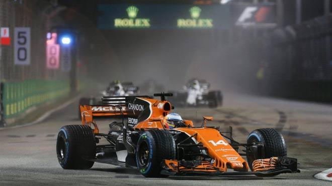 """Đua xe F1, Singapore GP: """"Thần may mắn"""" ngoảnh mặt, cơn ác mộng màu đỏ 4"""