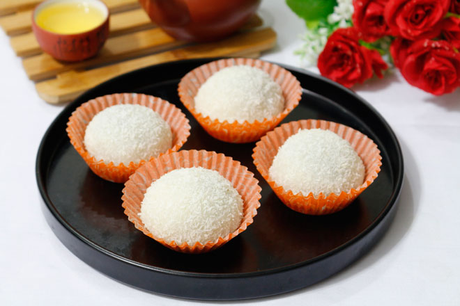 Công thức làm bánh mochi nhân đậu đỏ mềm dẻo, đơn giản tại nhà - 1