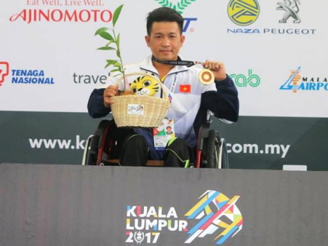 """Việt Nam đón """"cơn mưa Vàng"""" qua mặt Thái Lan tại Para Games 5"""