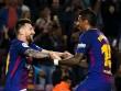 """Barca thăng hoa:  """" Người đẹp """"  Messi xứng đôi  """" quái vật """"  Paulinho"""