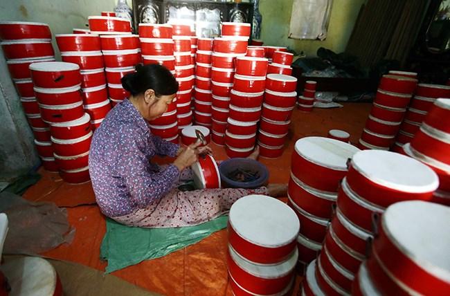 Làng làm đồ chơi trung thu ở Hưng Yên tất bật vào mùa - 3