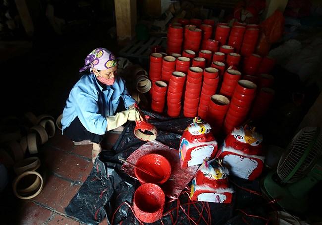 Làng làm đồ chơi trung thu ở Hưng Yên tất bật vào mùa - 7