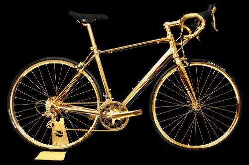 Choáng ngợp xe đạp mạ vàng 24K giá 7,7 tỷ đồng - 1