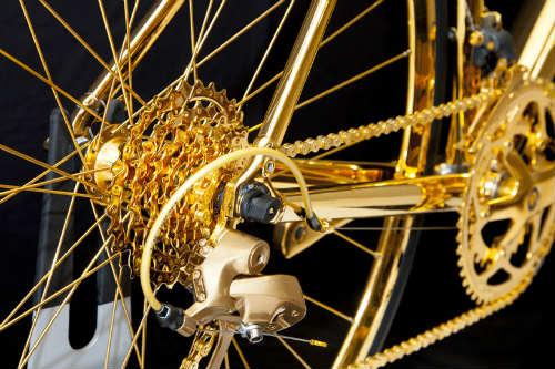 Choáng ngợp xe đạp mạ vàng 24K giá 7,7 tỷ đồng - 5
