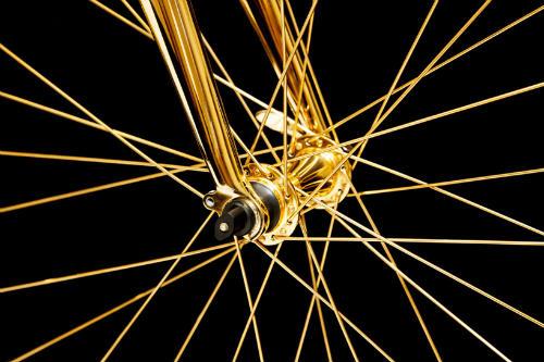 Choáng ngợp xe đạp mạ vàng 24K giá 7,7 tỷ đồng - 6