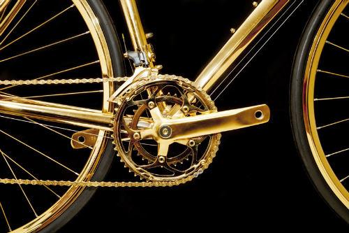 Choáng ngợp xe đạp mạ vàng 24K giá 7,7 tỷ đồng - 4
