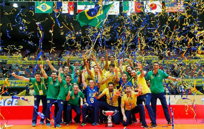 """Bóng chuyền: VĐV đập """"như máy"""" ghi 70 điểm, Brazil lên đỉnh thế giới 1"""