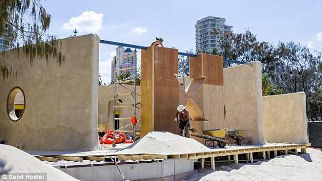 Ngỡ ngàng khách sạn xây toàn bằng cát ở Australia - 2