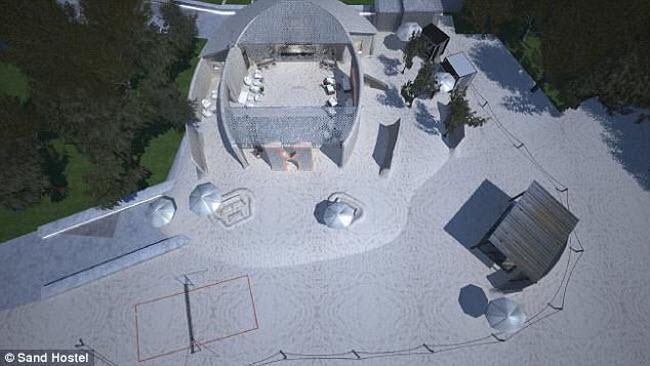 Ngỡ ngàng khách sạn xây toàn bằng cát ở Australia - 1
