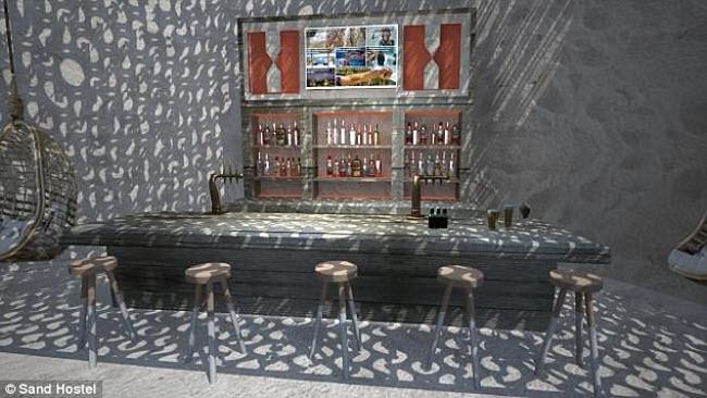 Ngỡ ngàng khách sạn xây toàn bằng cát ở Australia - 10