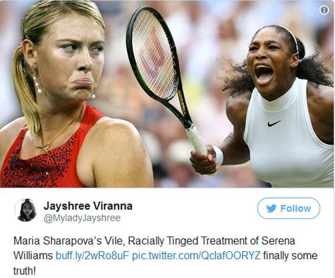 """Sharapova đả động """"chuyện tế nhị"""", Serena xỉa xói đáp trả 1"""