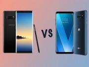 Màn hình P-OLED trên LG V30 và AMOLED của Galaxy Note 8 khác nhau thế nào?