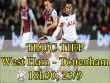 TRỰC TIẾP bóng đá West Ham - Tottenham: Harry Kane giữ ghế cho Pochettino