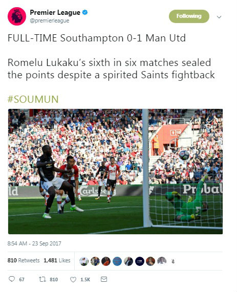 """MU hạ gục Southampton: Triệu fan ví Lukaku với """"Quỷ dữ"""", tung hô De Gea 3"""