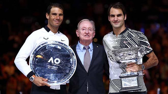"""Nadal - Federer đánh đôi vẫn tham bóng, suýt """"phang"""" vỡ đầu nhau 1"""