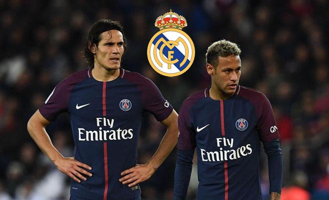 """PSG """"nhờ"""" Real dẹp loạn: Trao Neymar """"ấn tín"""", Cavani kết đôi Ronaldo"""