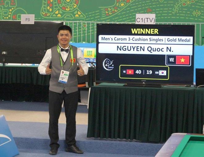 Quốc Nguyện xuất thần hạ nhà vô địch thế giới, đoạt Vàng bi-a châu Á 3