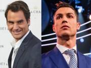 """Bóng đá - VĐV """"pin khỏe nhất"""" 2017: Federer sau Ronaldo, trên muôn người"""