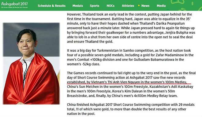 """Kỳ tích Ánh Viên: Lập kỷ lục châu Á, chủ nhà Turkmenistan """"ngả mũ"""" 2"""