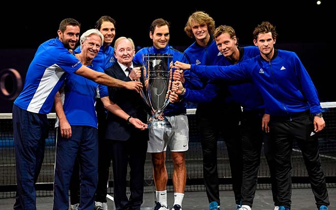 """""""Nhân giống"""" Laver Cup, Nadal và Federer còn song tấu san bằng thế giới 1"""