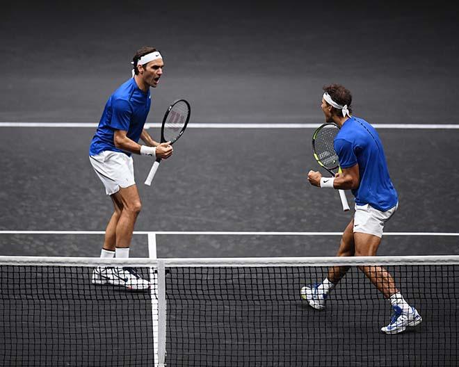 """""""Nhân giống"""" Laver Cup, Nadal và Federer còn song tấu san bằng thế giới 2"""