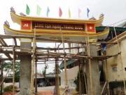 """Sự thật về cổng làng có tên  """" Trung Quốc """"  ở Nghệ An"""