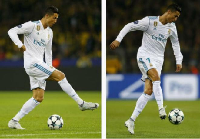 Ronaldo chói lọi 400 trận: Vua ghi bàn Cúp C1, Messi khóc ròng quy phục 3