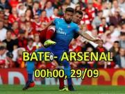"""BATE Borisov- Arsenal:  """" Pháo """"  nổ vang trời, góp vui Ngoại hạng Anh"""