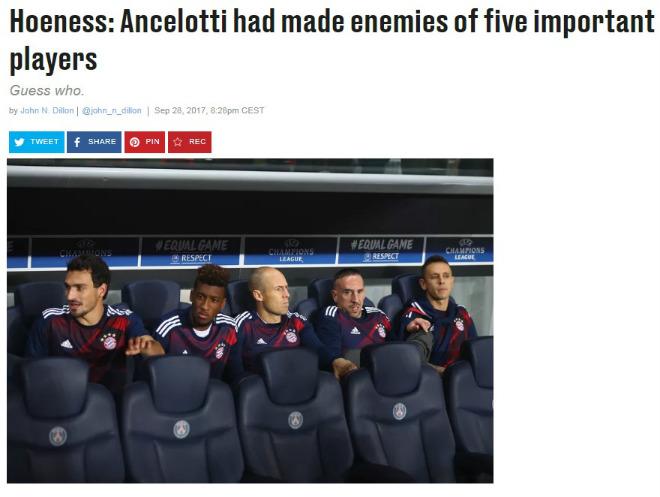 """Bayern sa thải Ancelotti sau thua thảm PSG: Lật mặt 5 """"phản đồ"""""""
