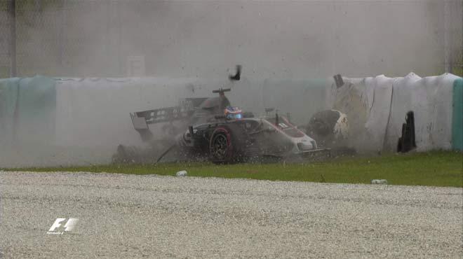 Đua xe F1, đua thử Malaysian GP: Lại có tai nạn, Ferrari tiếp tục dẫn đầu 5