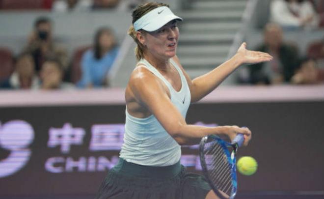 Sharapova - Sevastova: Siêu kịch tính 3 tiếng, 2 màn đấu súng (Vòng 1 China Open) 1