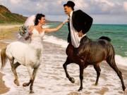 Tranh vui - Cô dâu chú rể chụp ảnh cưới lại nhận được... ảnh cười