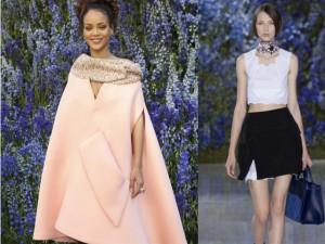 Thời trang - Rihanna xuất hiện rạng rỡ tại show Dior Paris FW