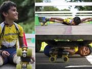 Thể thao - Nhóc 8 tuổi lập kỷ lục trượt qua gầm 53 xe ôtô