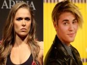 """Thể thao - Rousey cạch mặt """"hoàng tử nhạc Pop"""" Justin Bieber"""