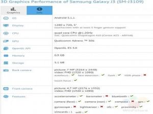 Thời trang Hi-tech - Lộ thông số của mẫu Samsung Galaxy J3
