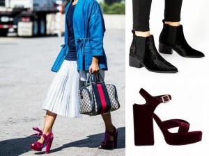 Thời trang - Thu này, hãy chiều đôi chân bằng giày nhung!