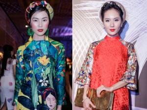 """Thời trang - Helly Tống, Phương Linh """"gây mê"""" với áo dài cách tân"""