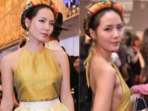 Thời trang - Ca sĩ Phương Linh gây thổn thức với yếm đào hờ hững