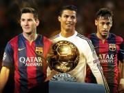Bóng đá Ý - Danh sách QBV FIFA 2015: Messi, CR7 dè chừng Neymar