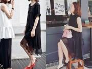 Thời trang - Tín đồ Việt hào hứng váy suông dài tiết giao mùa