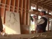 Phi thường - kỳ quặc - Clip: Vẽ tranh nàng Mona Lisa bằng súng bắn đinh