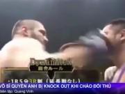 Thể thao - Boxing: Bị đấm nằm sàn vì cả gan hôn đối thủ