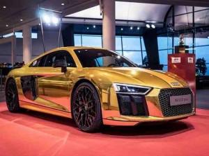 """Ô tô - Xe máy - Đã mắt với chiếc Audi R8 V10 Plus thế hệ thứ hai """"toàn vàng"""""""