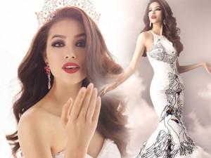 Thời trang - Hé lộ váy dạ hội cầu kỳ của Phạm Hương ở HH Hoàn vũ